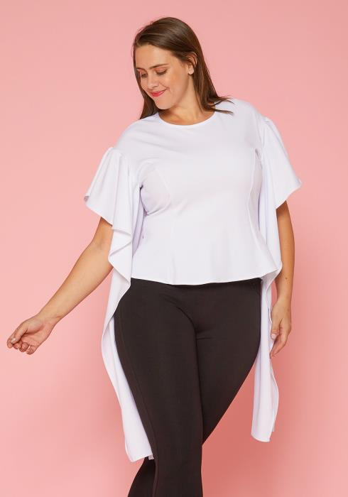 Asoph Plus Size Dramatic Sleeves Top