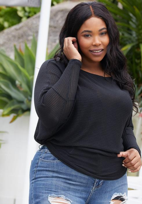 Asoph Plus Size Knit Sweater
