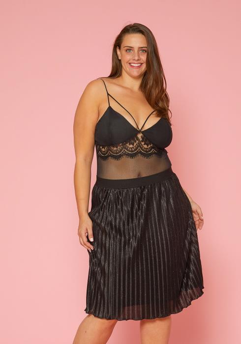 Asoph Plus Size Pleated Skirt