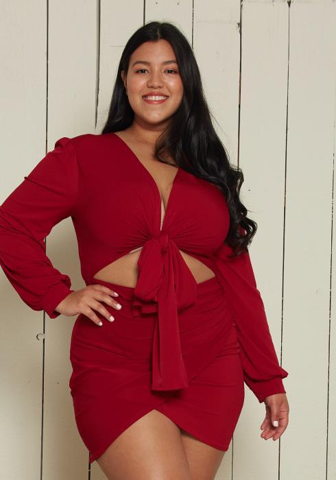 Asoph Plus Size Sexy Wrap Dress