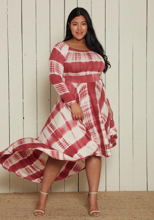Asoph Plus Size Tie Dye Dress