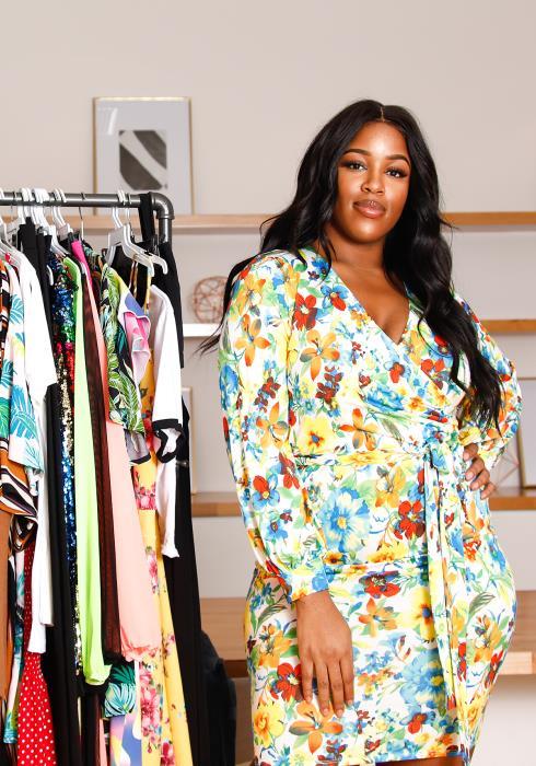 Asoph Plus Size Floral Dress