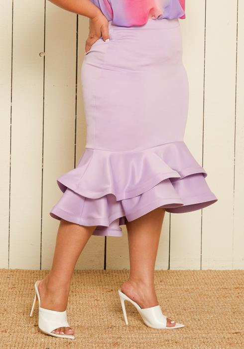 Asoph Plus Size Trumpet Skirt