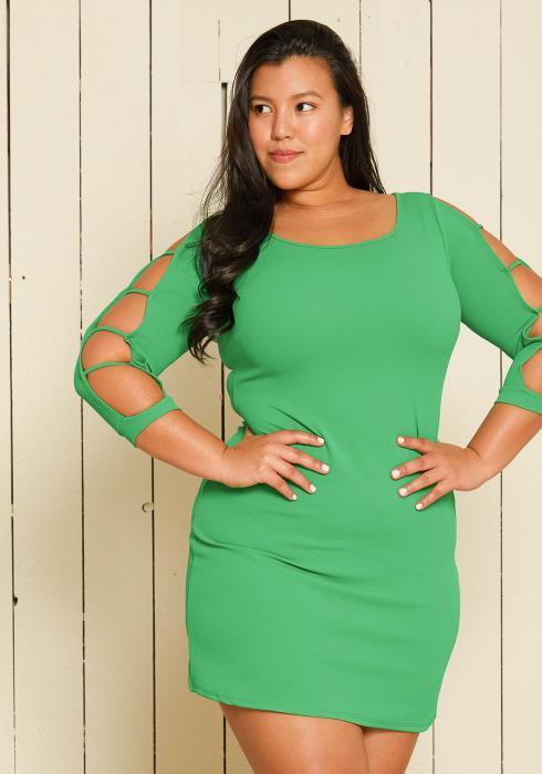 Asoph Plus Size Shift Party Dress