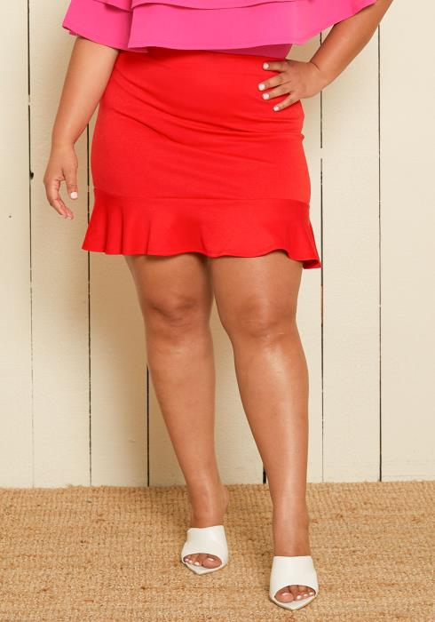 Asoph Plus Size Trumpet Skirt