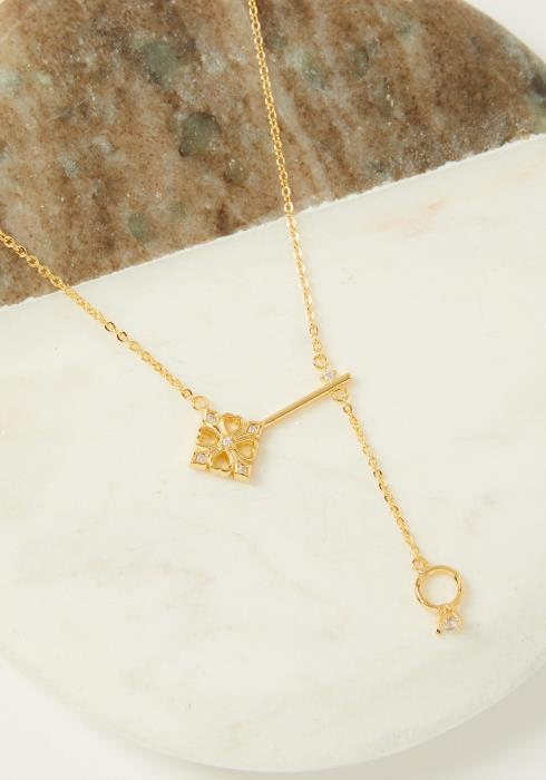 Key and Ring Necklace