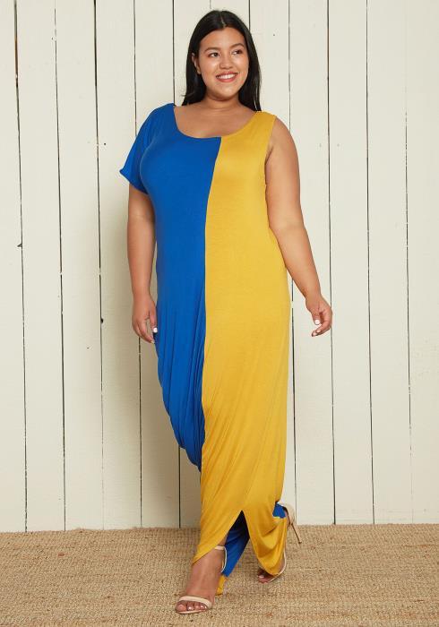 Asoph Plus Size Asymmetrical Balloon Dress