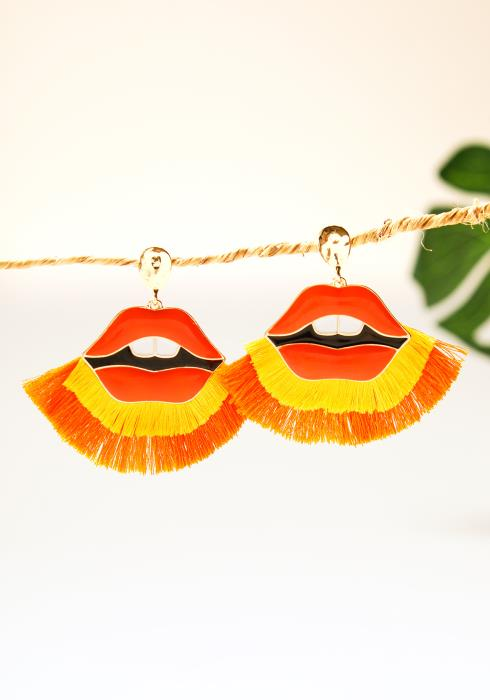 Lip Tassel Earrings