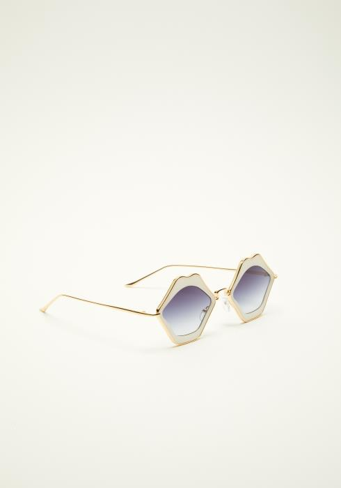 Retro Lip Frame Sunglasses