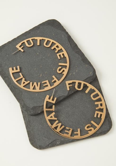 """""""Future is Female"""" Hoop Earring"""