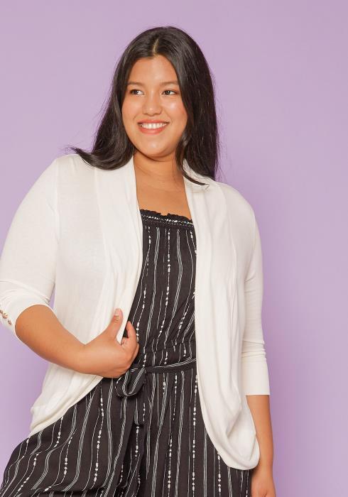 Asoph Plus Size Open Front Cardigan