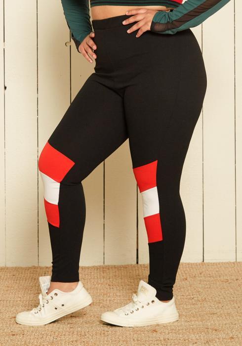 Asoph Plus Size Stripe Leggings