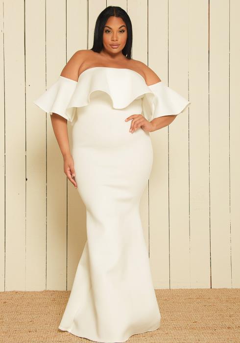 Plus Size Little White Dress | Asoph Inc