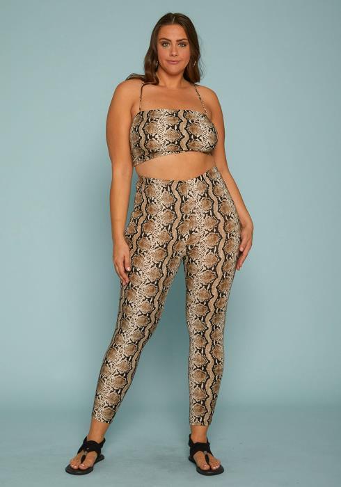Asoph Plus Size Crop Top & High Waist Pants Set