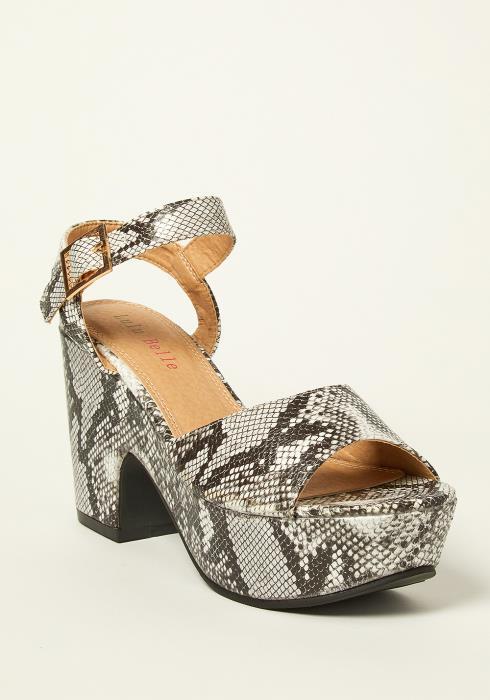 Lulu Belle Ankle Strap Clunky Heel