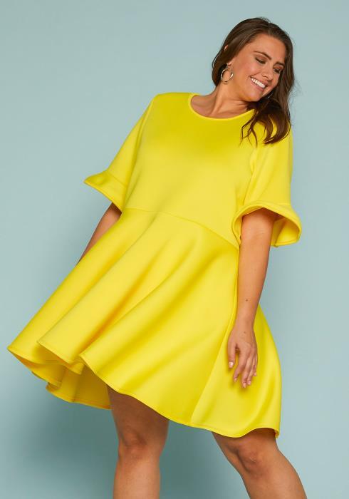 Asoph Plus Size Mini Flare Dress