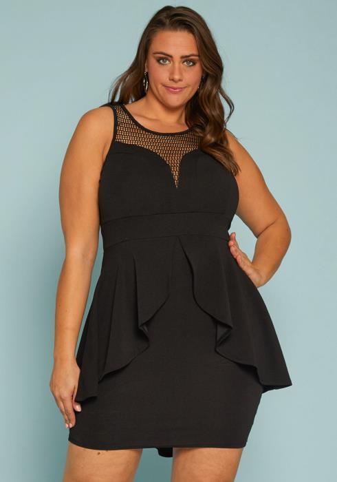 Asoph Plus Size Peplum Dress