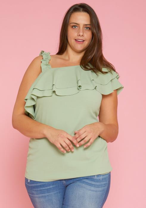 Asoph Plus Size Asymmetrical Blouse
