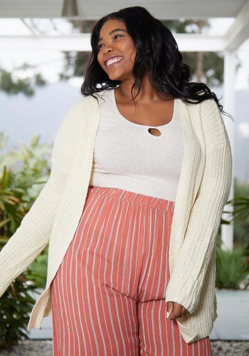 Asoph Plus Size Knit Cardigan