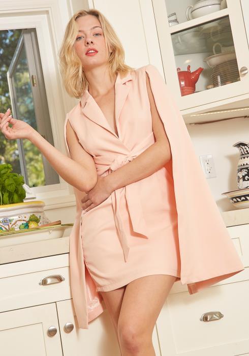 Tansy Caped Mini Dress