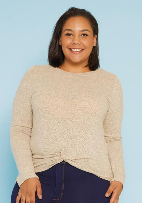 Asoph Plus Size Light Knit Sweater