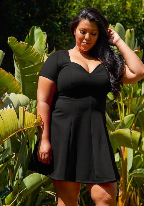 Asoph Plus Size Flare Mini Dress
