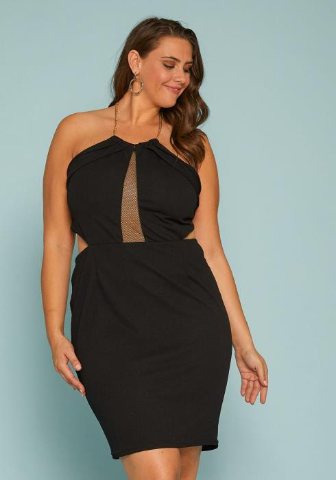 Asoph Plus Size Halter Party Dress