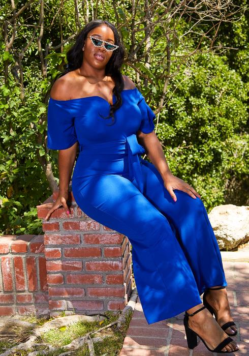 Asoph Plus Size Sweetheart Jumpsuit