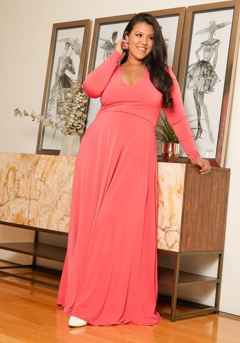 Asoph Plus Size Flare Maxi Dress