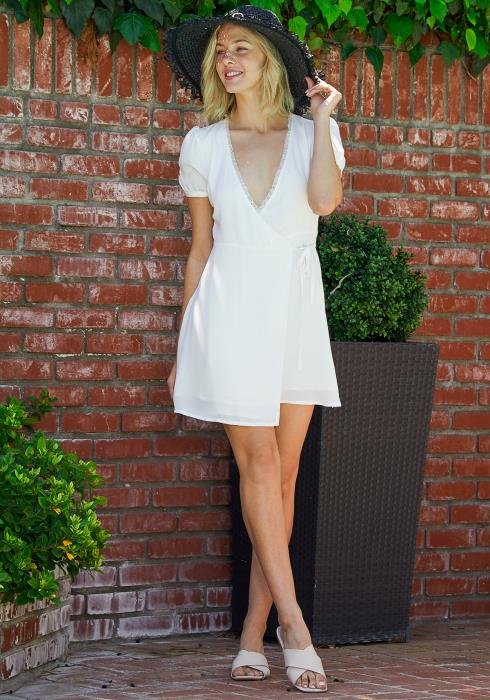Tansy Wrap Mini Dress