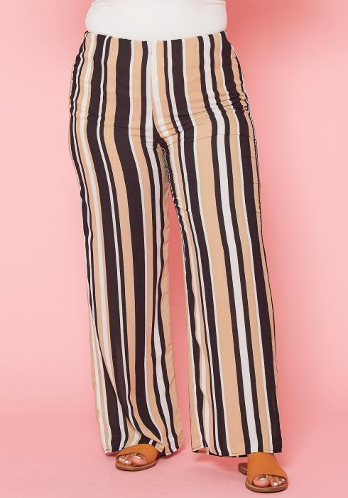 Asoph Plus Size Stripe Pants