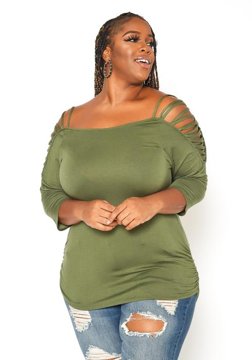 Asoph Plus Size Basic Long Sleeve Tee