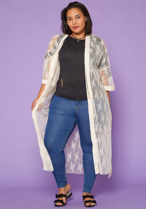 Asoph Plus Size Lace Cardigan