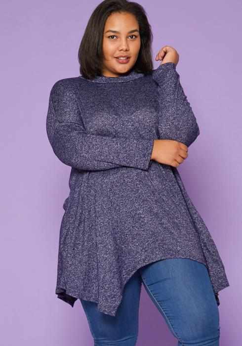 Asoph Plus Size Turtle Neck Sweater