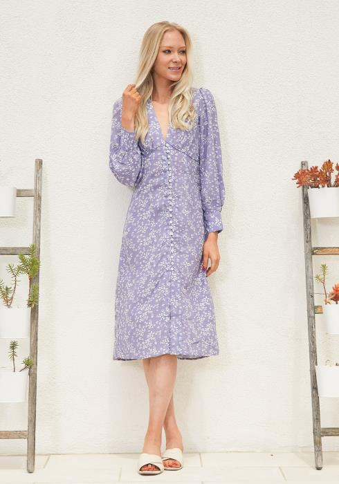 Tansy Floral Button Up Midi Dress