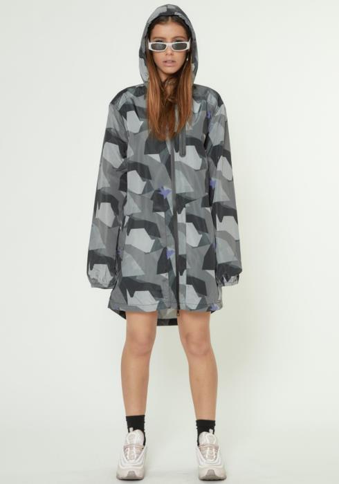 Konus Mens Camo Printed Hooded Jacket