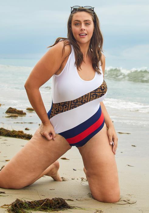 Asoph Plus Size Womens One Piece Swimsuit