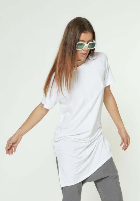 LONG TEE WITH SIDE SLITS