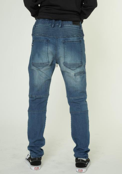 STRETCH DENIM WITH PIN TUCKS