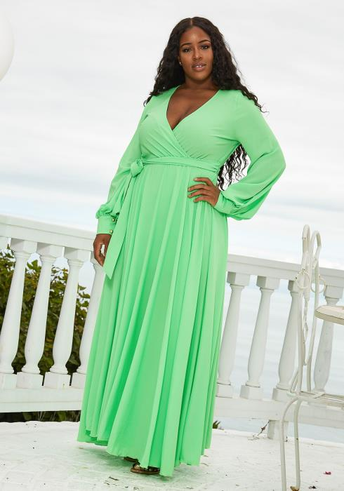 Asoph Plus Size Flare Maxi Dress