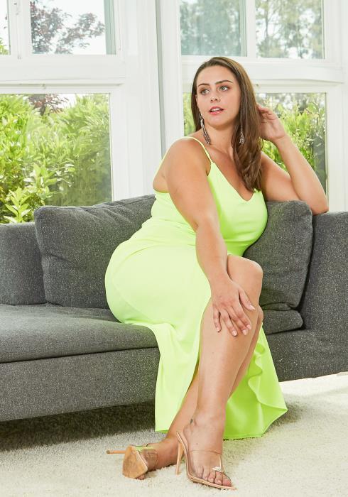 Asoph Plus Size Wrap Midi Dress