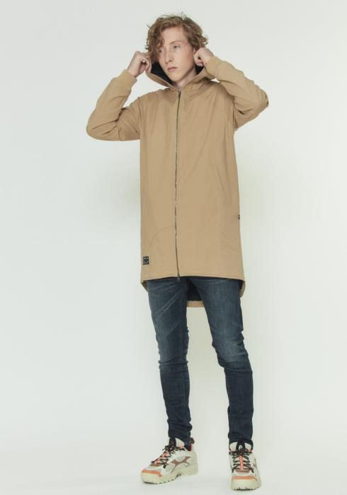 HOODED CANVAS ZIP UP JACKET