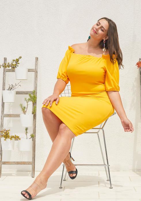 8110fde17a4 Asoph Plus Size Off Shoulder Bodycon Dress