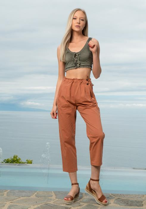 Tansy Cropped Straight Pants