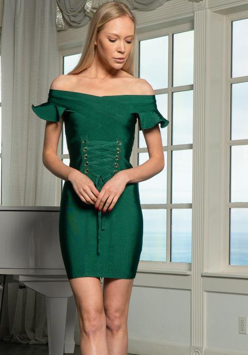 Tansy Faux Corset Bodycon Dress