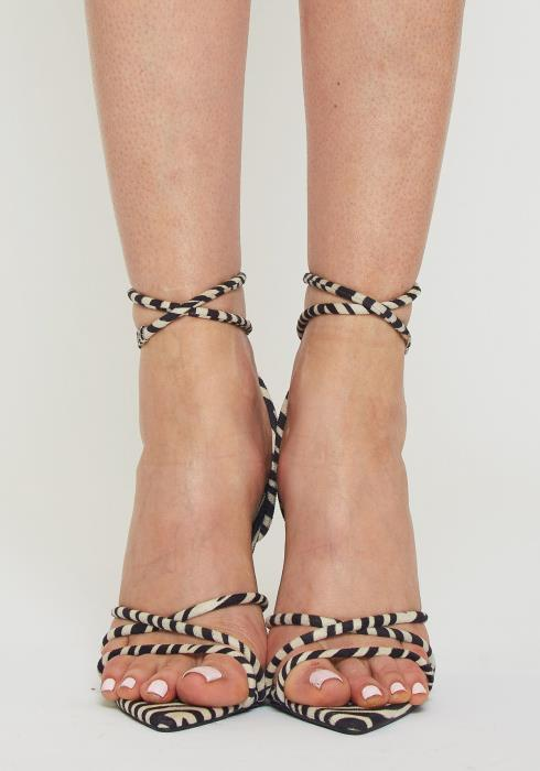 Zebra Strap High Heel