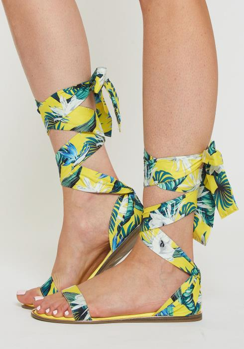 Tropical Summer Ankle Strap Sandals