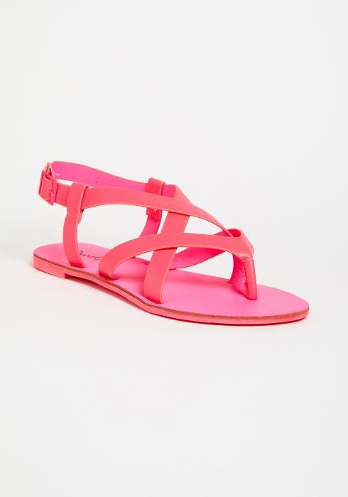 Neon Flat Sandals