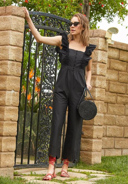 Tansy Lace Ruffle Jumpsuit