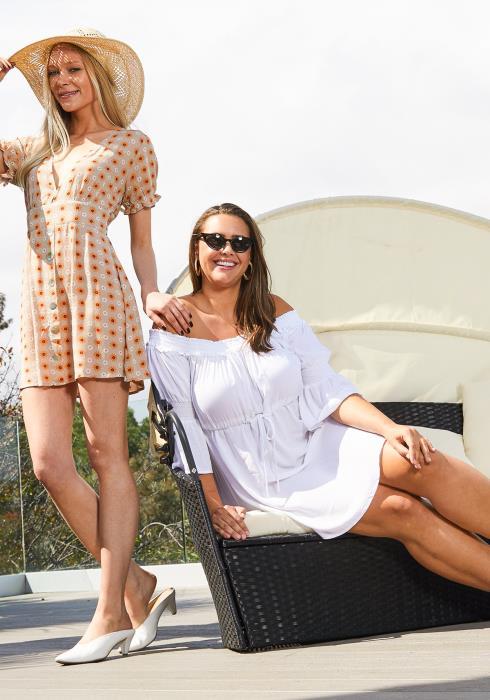 Asoph Plus Size Off Shoulder Sun Dress